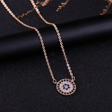 SIPENGJEL Trendy Cubic Zirconia Crystal small Evil Eyes Necklace Classics Blue eye Necklaces For Women Jewelry 2021