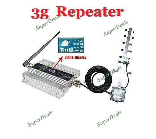 2100 mhz Yagi Antenne extérieure + Antenne intérieure, 3g Répéteur Booster Amplificateur Récepteurs, WCDMA booster Téléphone portable Répéteur de Signal