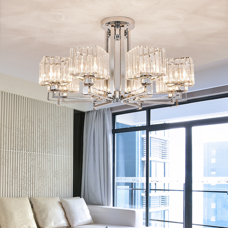 LED crystal chandelier Ceiling home lighting fixtures living room hanging light deco suspension luminaire bedroom suspended lamp