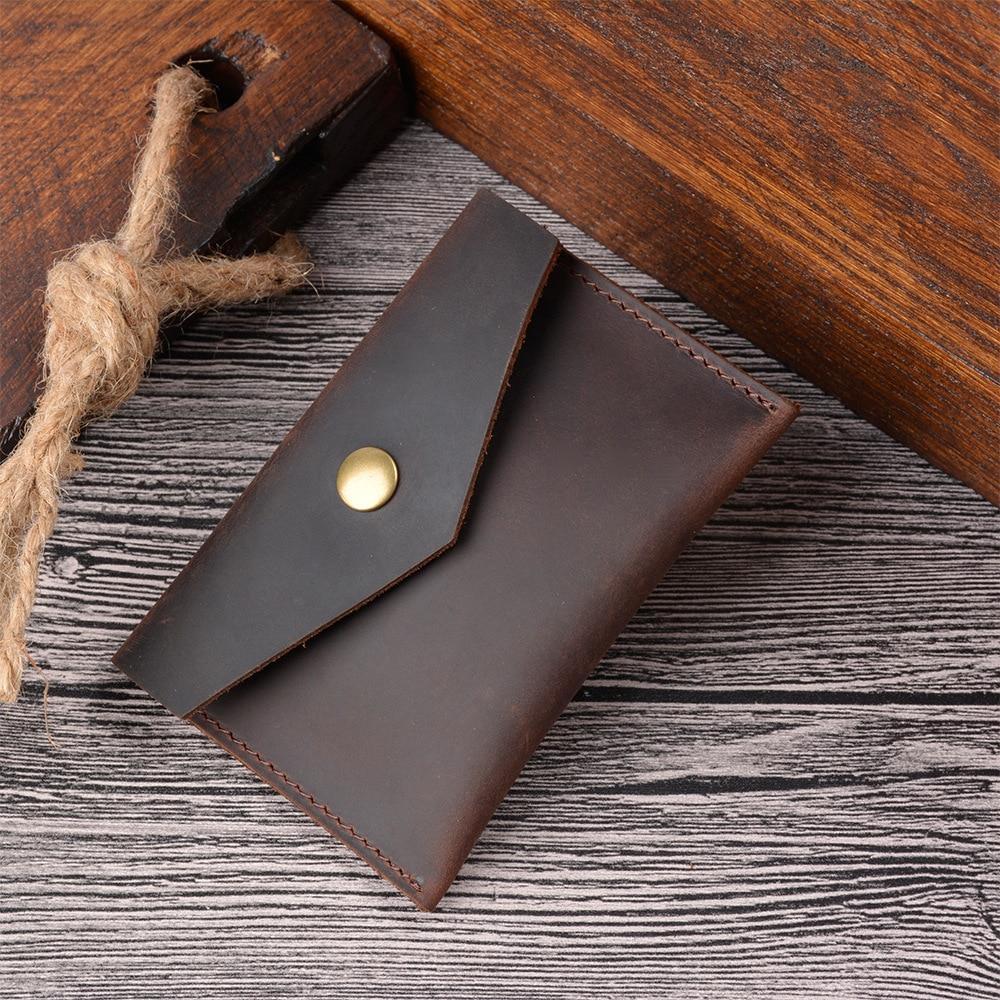 SIKU men's leather coin purses holders crazy horse card holder unisex purse