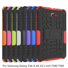 Tire Silicon Cover for Samsung Galaxy Tab A A6 10.1 inch 2016 Case T580 T585 T580N T585N SM-T580 SM-T585 Funda Coque Stand Holde