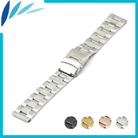 Stainless Steel Watch Band 18mm 20mm 22mm 24mm For MK Safety Clasp Strap Loop Belt Bracelet