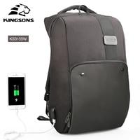 Kingsons Laptop Backpacks Male Mochila Men's Backpack Travel Anti theft Male Bag