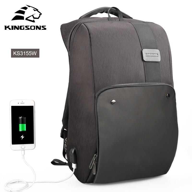 Kingsons sacs à dos d'ordinateur portable Mochila homme sac à dos voyage Anti-vol homme sac