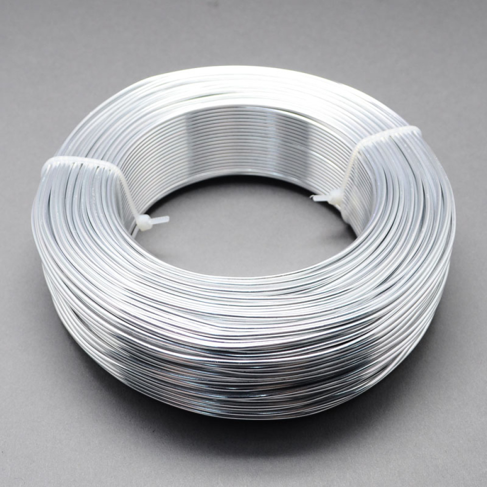 5mmx1mm 10m/roll Embrossed Flat Anodized Aluminum Wire Gold Silver ...