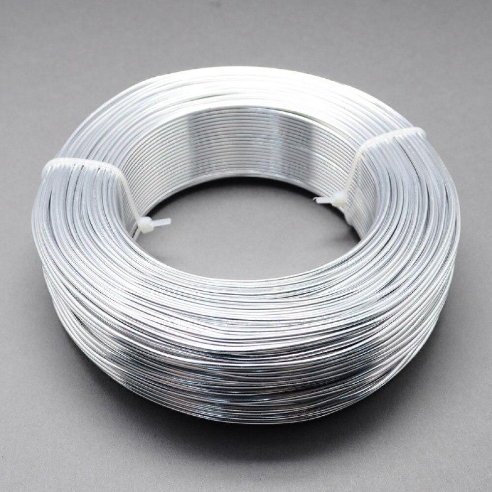 1 rolo de alumínio fio jóias descobertas para fazer jóias diy prata preto 0.8mm 1mm 1.5mm 2mm