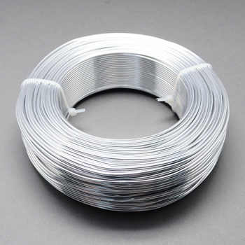 1Roll Aluminum Wire Jewelry Findings for Jewelry Making DIY Silver Black 0.8mm 1mm 1.5mm 2mm - DISCOUNT ITEM  48% OFF All Category