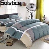 Solstice домашний текстиль в полоску стиль 100% хлопок 4 шт. постельное бельё модные повседневное постельное белье Стёганое одеяло/пододеяльн