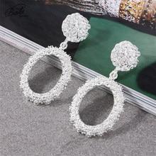 Badu Silver Zinc Alloy Earring Big Metal Luxury Dangle Drop Earrings for Party Women Punk Fashion Jewelry Wholesale