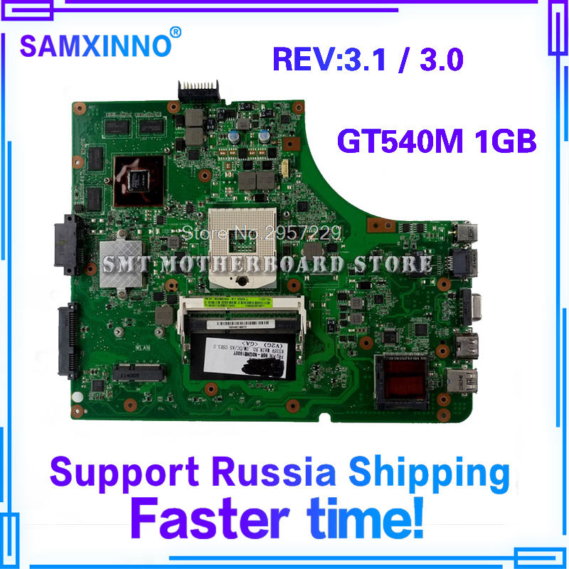цена на K53SV Motherboard GT540-REV:3.1/3.0 For ASUS A53S K53S X53S P53S K53SC laptop Motherboard K53SV Mainboard K53SV Motherboard