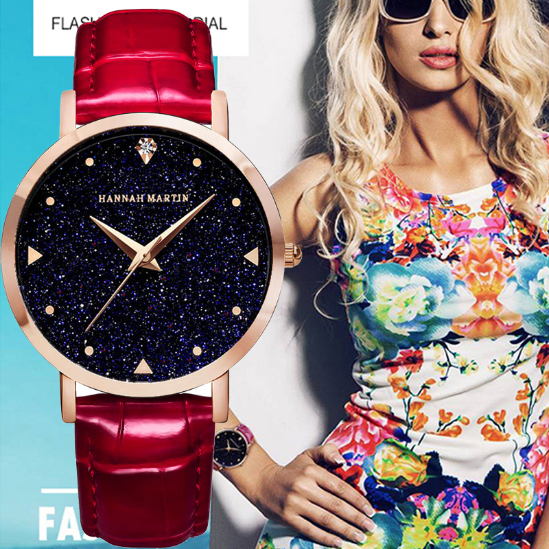 Luxury Rose Gold Women Watches waterproof Fashion Elegant Quarts flash Star Dial ladies watch Clock Relogio Feminino Reloj Mujer luxury pear shell dial ladies watches fashion green quartz women watch rose gold milan mesh belt waterproof watch reloj mujer