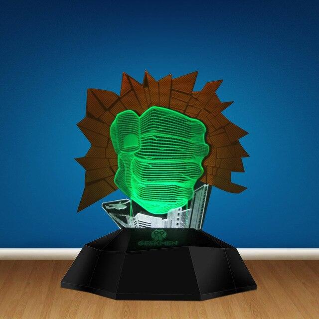 Hulk Smash Hand Led Decor Light Gamma Grip Fist 3D Optical Illusion Lamp Lamp Novelty Light 3D Line Lamp Unique Gifts