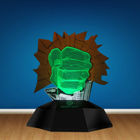 Hulk Smash Hand Led Decor Light Gamma Grip Fist 3D Optical Illusion Lamp Lamp Novelty Light 3D Line Lamp Unique Gifts