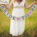 FENGRISE Bridal Shower 3 M Bride To Be Paper Banner Garlands Wedding Decoration Bachelorette Hen Party Bunting Events Supplies