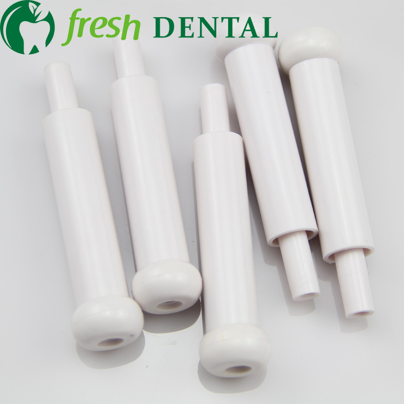10Pairs Dental Chair Unit Plastic font b White b font Suction Head Strong Suction Weak Suction