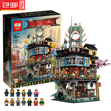 4953Pcs Ninjago City Set Lloyd Misako Shark Army Sally Blocks Lepin Toy Compatible With Lego 70620 Movie 2017