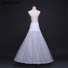 JaneVini Robe Vintage Rockabilly A Line Petticoat Women Wedding Prom Dress Underskirt Bridal Buddy Elastic Waist Lace Edge Skirt