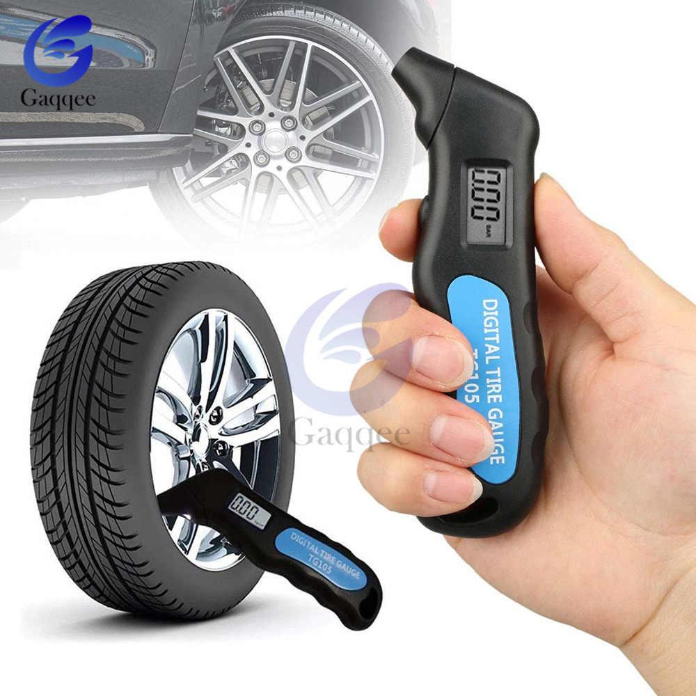 TG105 cyfrowy opona samochodowa opona miernik ciśnienia powietrza wyświetlacz LCD manometr barometr tester dla samochodów Truck motocykl motor Test