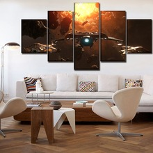 5 Panels Game Star Citizen Painting Modern Artwork Canvas HD Print Poster Wall Art Decor Modular Pictures Framework For Bedroom