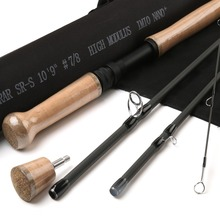 IM12 high modulus carbon fiber fly fishing switch rod 10.9ft 7/8 weight fly fishing rod angler dream 3 5wt fly fishing combo 24sk carbon fiber fly rod and 3 4 5 6wt fly reel floating fishing line backing leader