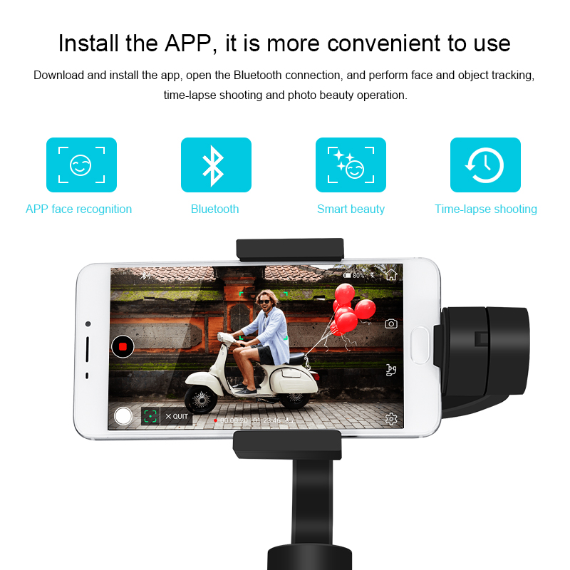 Image 5 - KEELEAD 3 Axis Handheld Gimbal Stabilizer w/Focus Pull & Zoom for iPhone Xs Max Xr X 8 Plus 7 6 SE Samsung Action Camera-in Handheld Gimbals from Consumer Electronics