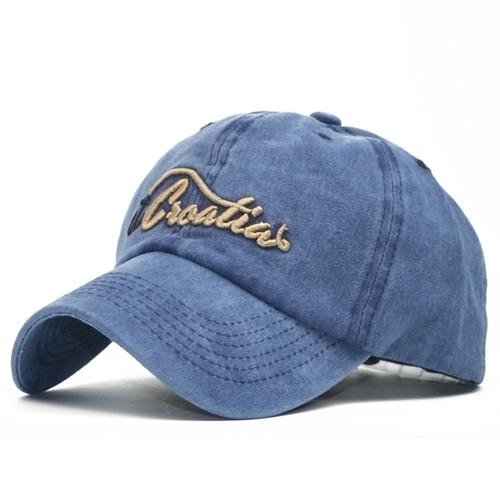 Cora Wang Hot Retro Washed Baseball Cap Fitted Cap Snapback Hat For Men Bone Women Gorras Casual Casquette 3D Letter Black Cap