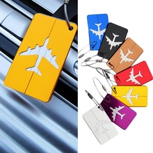 Travel Portable Aluminium Alloy Luggage Tags Baggage Name Tags Suitcase Address Label Holder Travel Accessories travel accessories suitcase luggage tags cute cartoon luggage label silicon plastic suitcase id address holder bus card cover