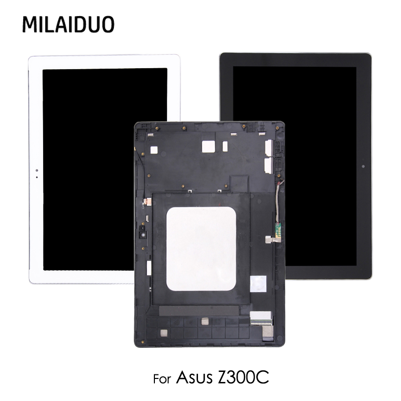 Original LCD Display Panel For ASUS ZenPad 10 Z300 Z300C Z300M P021 Touch Screen Digitizer Tablet with Bezel Frame Assembly все цены