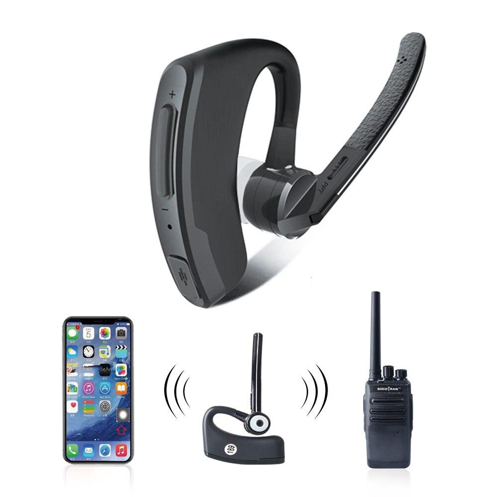 Walkie Talkie Wireless Earpiece For Baofeng UV-5R UV-82 Bluetooth Headset For Kenwood PTT Bluetooth Microphone Earphone Adapter