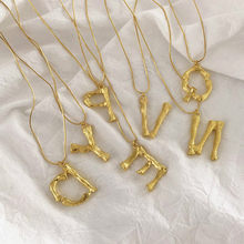 2019 New 26 Letter Power Necklaces Initials Name for Women Girls Best Birthday Gift(China)