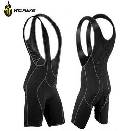 WOLFBIKE Mens Cycling Bib Shorts Pants Bicycle Bike Vest Shorts Chothes Cycle Wear Clothing 3D Coolmax Pad Braces Tights M 3XL