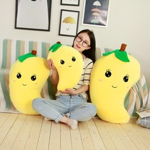 45/55/80 Cm Cartoon Soft Fruit Shape Plush Toy Stuffed Mango Pillow /cushion Toys For Home Decoration Sofa &chair