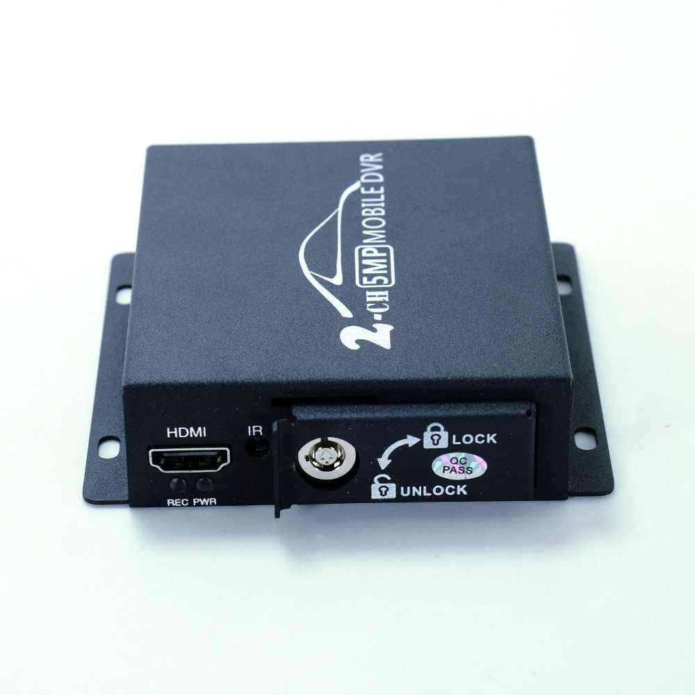 Новый AHD видеорегистратор Прямая поставка с фабрики парный видеорегистратор автомобильный Грузовик видео запись мобильный видеорегистратор 2CH мини видеорегистратор HDMI CVBS AHD с пультом дистанционного управления