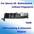 16 gb 100% original desbloqueado oficial sem touch id mainboard motherboard para iphone 5s bom trabalho com chips de placa lógica