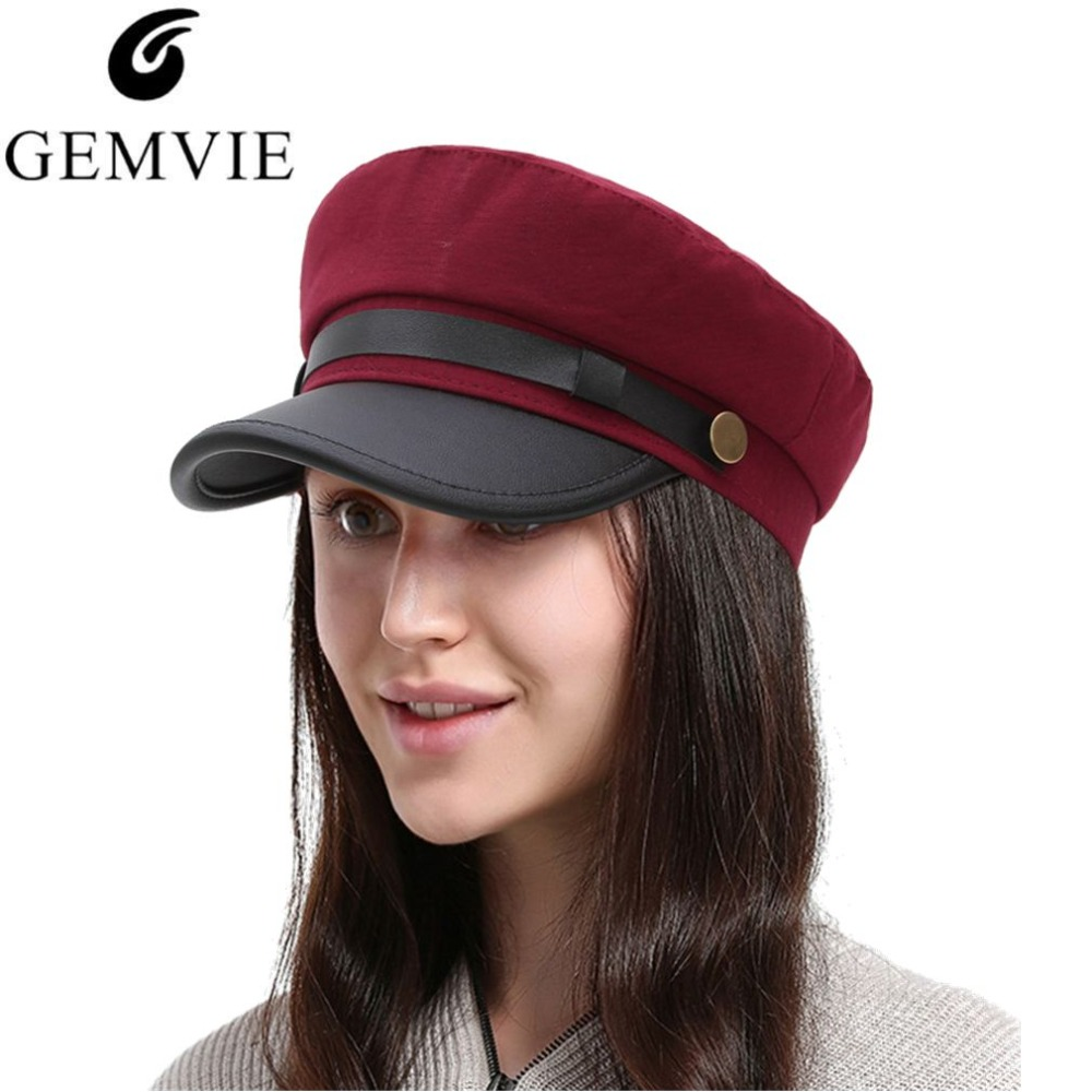 Detail Feedback Questions about 2018 Winter Warm Berets Vintage Women  Newsboy Caps Flat Top Painter Hat Fashion Military Hat Cotton Beret Cap on  ... f37ed1f37b48