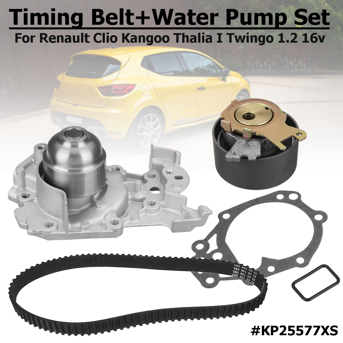 New 1.2 16v Gates Timing Belt+Water Pump #KP25577XS For Renault Clio Clio Grandtour Kangoo Modus/Grand Modus Thalia Thalia I 7700431773 7701472508 trunk lock with key switch for renault logan clio sedan for for renault clio thalia 1998 2010