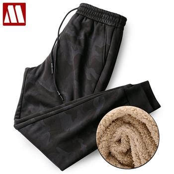 2020 zimowe męskie spodnie dresowe dorywczo elastyczna męska futrzana wyściółka spodnie sportowe obcisłe spodnie dresowe spodnie ciepłe grube spodnie pełna odzież sportowa tanie i dobre opinie MYDBSH CN (pochodzenie) Pełnej długości Mieszkanie REGULAR COTTON Poliester Polar Suknem Kieszenie HIP HOP Sznurek H068