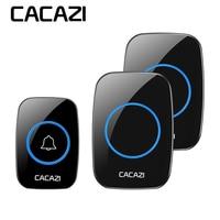CACAZI Newest LED Smart Doorbell Waterproof 300M Remote Mini Wireless Door Bell 38 Chimes 20 85dB