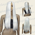 28 inch Ultra Series Hi Temp White Bangless Long Cosplay DNA Wigs>>Party cosplays heat resistant free shipping