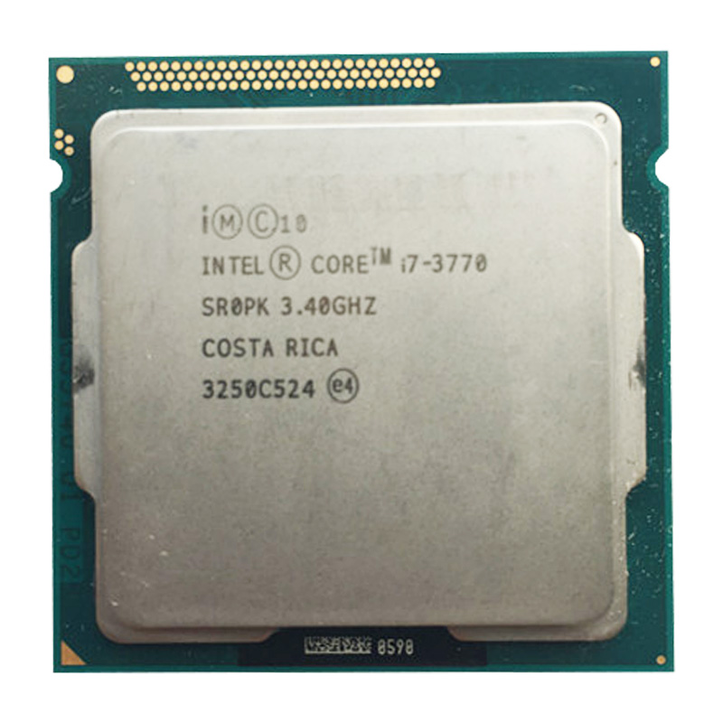 intel core i7 3770 quad core cpu LGA <font><b>1155</b></font> socket 3.4Ghz use H61 H67 Z77 Z68 H77 motherboard 77w tdp 3770 processor image