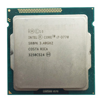 intel core i7 3770 quad core cpu LGA 1155 socket 3.4Ghz use H61 H67 Z77 Z68 H77 motherboard 77w tdp 3770 processor