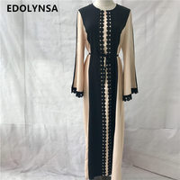 2017 Brand Fashion Muslim Dress Abaya Dress Maxi Prom Dresses Casual Kaftan Plus Size Robe Knitting