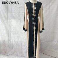 2017 Brand Fashion Muslim Dress Abaya Dress Maxi Prom Dresses Casual Kaftan Plus Size Robe Knitting