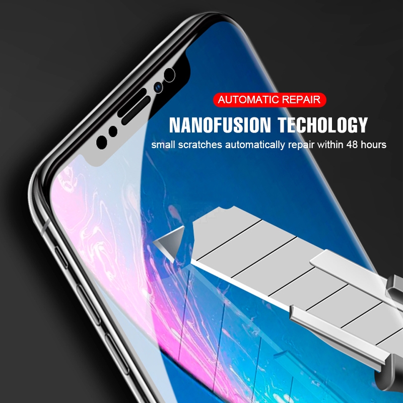 3D Full Cover Hardness Hydrogel Film For iphone Xs Max XR X HD Soft Screen Protector Film For iPhone 8 7 6 6S Plus Not Glass in Phone Screen Protectors from Cellphones Telecommunications