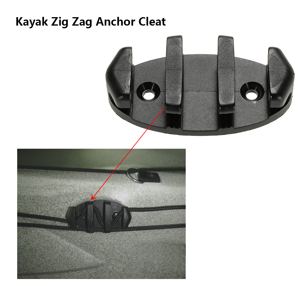 Black 8.89cm Zig Zag Anchor Cleat For Kayak Canoe Deck Marine Fishing Boat Kayak Accessories