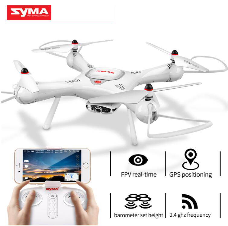 SYMA X25PRO RC Drone Aircraft GPS FPV Real-time Transmission 720P HD Camera Headless Mode Quadcopter Drones For Children Gift