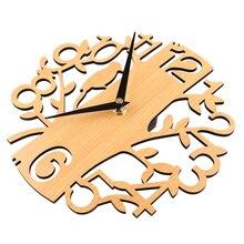 Create Design 30cm Tree Shape Mute Wall Clocks Home Decor Modern Novelty Wooden Brief Silent Bedroom Livingroom Hanging Clock