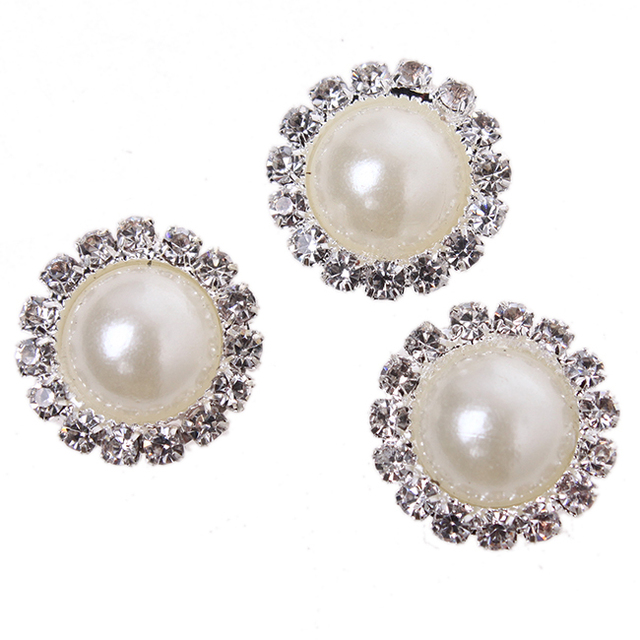 30pcs Lot New White Gold Clip On Earring Findings 5 Pearl Round Accessories
