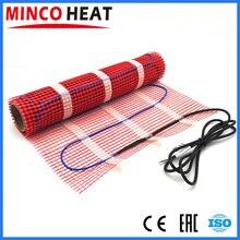 0.5 ~ 5m2 150W/m2 isıtma sistemleri Mat elektrikli yerden ısıtma sistemi ile Wifi oda termostatı Can seçin