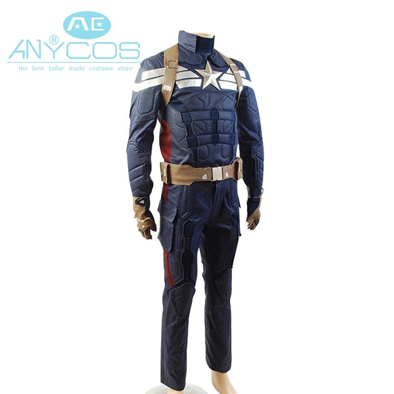 Captain America 2 The Winter Soldier Steve Rogers Film Costume Uniforme Costume de Super-Héros Cosplay Costume Ensembles Complets